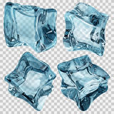Transparent light blue ice cubes Royalty Free Stock Photo