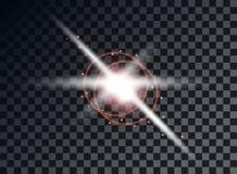 Transparent light elements on an isolated background. Bright reflection, flare. Shining star. Glaring effulgence. Vector. vector illustration