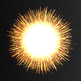 Transparent light flare firework effect. Isolated sparks for insert your design. Vector illustration EPS 10. Transparent light flare fireworks effect. Isolated Royalty Free Stock Photo