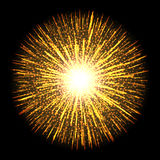 Transparent light flare firework effect. Isolated sparks for insert your design. Vector illustration EPS 10. Transparent light flare fireworks effect. Isolated Royalty Free Stock Photos