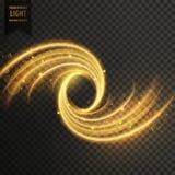 Transparent light shimmer effect in golden color Royalty Free Stock Image