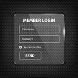 transparent login box on textured background Royalty Free Stock Image