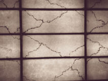 Transparent marble wall and frames at night  in vintage style Royalty Free Stock Photo