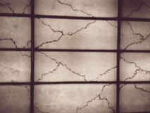 Transparent marble wall and frames at vintage style Stock Images