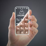 Transparent mobile smart phone Stock Images