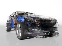 Transparent model cars. Stock Images