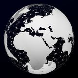 Transparent model of Planet Earth. 3D rendering royalty free illustration