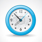 Transparent modern clock Stock Photography