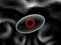 Transparent molecule - 3D illustration Stock Images
