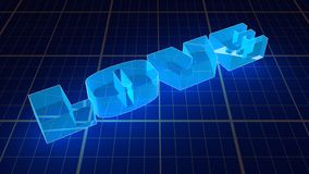 Transparent Neon Shine Love Word Royalty Free Stock Images