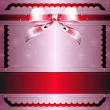 Transparent node and red ribbon Royalty Free Stock Image