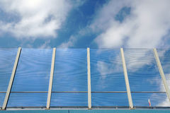 Transparent noise barrier. In Poland Stock Photography