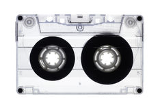 Transparent old audio cassette isolated Royalty Free Stock Photography
