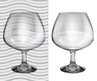 Transparent and opaque realistic brandy glasses Royalty Free Stock Photo