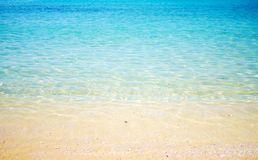 Transparent  open beach Royalty Free Stock Images