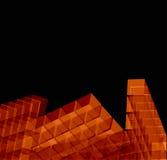 Transparent orange blocks - vector Royalty Free Stock Photo