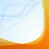 Transparent orange border folder template Royalty Free Stock Photography