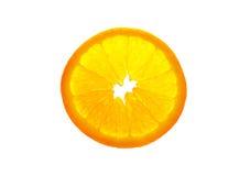 Transparent orange slice isolated on white background. Transparent beautiful orange slice isolated on white background Stock Image