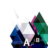 Transparent overlapping triangles Stock Photo