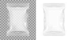Transparent Packaging For Snacks, Chips, Sugar, Spices, Or Other Food. EPS10 Vector Stock Photo