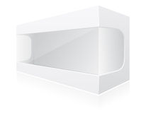 Transparent packing box vector illustration Royalty Free Stock Photos