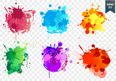 Transparent paint splash set. Paint splat set for design use. Vector illustration stock illustration