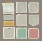 Transparent paper label in various shape Stock Image