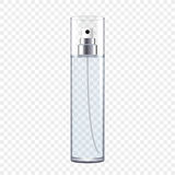 Transparent Perfume Bottle. Vector illustration Stock Photos