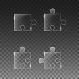 Transparent piece the puzzle Royalty Free Stock Photos