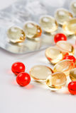 Transparent pills Royalty Free Stock Image