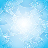 Transparent Pine Tree Outline Pattern for Christmas Card, Winter Holiday Template Royalty Free Stock Images