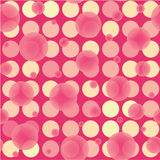 Transparent pink disco bubbles Royalty Free Stock Images