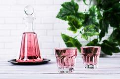 Transparent pink drink royalty free stock photos