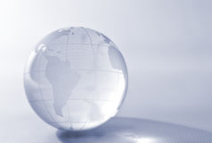 Transparent planet earth. Translucent planet earth with latitude and longitude marks Stock Photo