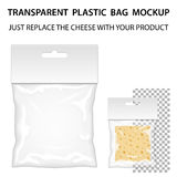 Transparent Plastic Bag Mockup Ready For Your Design. Blank Pack Stock Photography
