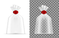 Transparent plastic bag. Packaging for bread, coffee, sweets, co vector illustration