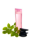 Transparent plastic bottle for lotion, Royalty Free Stock Photography