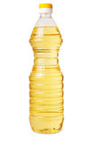Transparent plastic bottle of vegetable oil Stock Images
