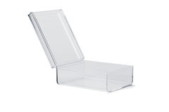 Transparent plastic box royalty free stock image
