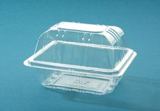 Transparent plastic box Stock Photography