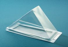 Transparent plastic box Royalty Free Stock Photo