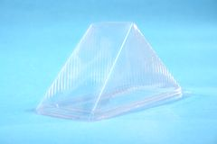 Transparent plastic box Royalty Free Stock Photos