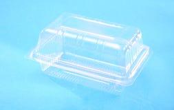Transparent plastic box Stock Images