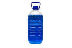Transparent plastic canister Stock Photo