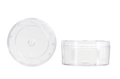 Transparent Plastic Container Royalty Free Stock Photos
