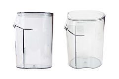 Transparent plastic containers with covers Royalty Free Stock Photos