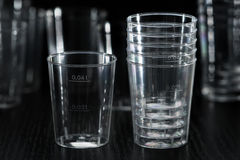 Transparent plastic cup Stock Images