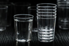 Transparent plastic cup Royalty Free Stock Image