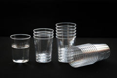 Transparent plastic cup Stock Photo
