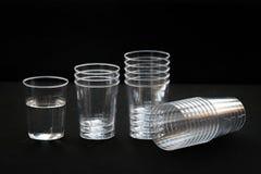 Transparent plastic cup Stock Photo